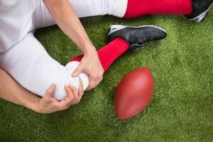 Football player injured leg
