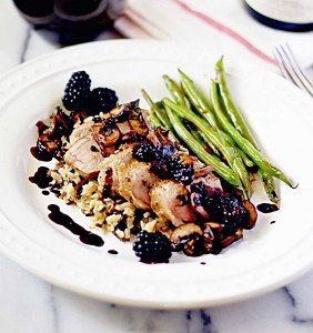 Grilled Pork With Blackberry Sage Sauce