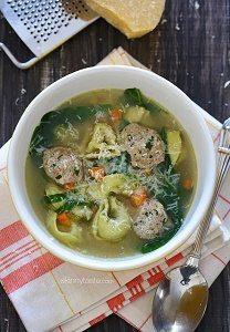 turkey meatball tortellini soup